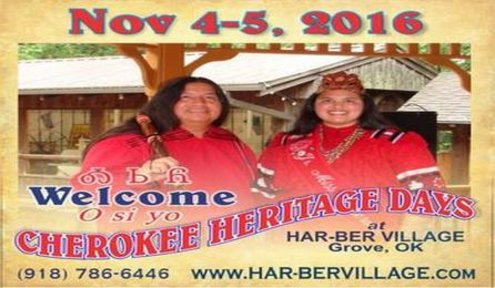 Experience Cherokee culture at Har-Ber Village Museum on November 5