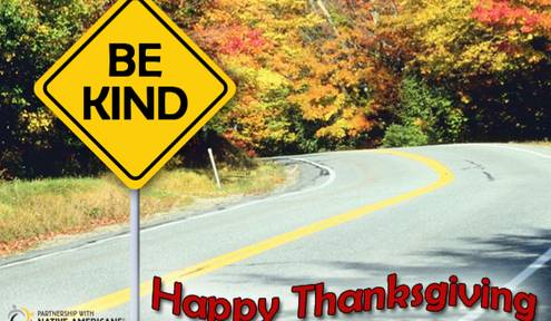 IF YOU'RE TRAVELING THIS THANKSGIVING, REMEMBER TO BE KIND