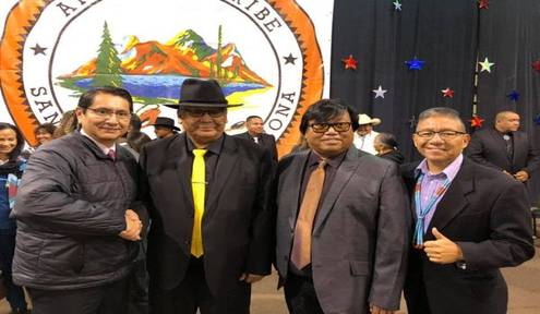 Nez-Lizer Congratulate tribal leaders at San Carlos Apache Tribal Inauguration