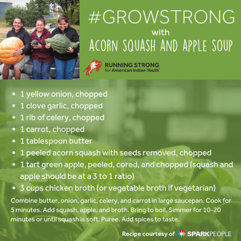GrowStrong Recipe: Acorn Squash and Apple Soup