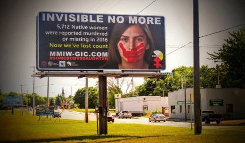 Murdered & Missing Indigenous Women Billboard Campaign Arrives in Michigan