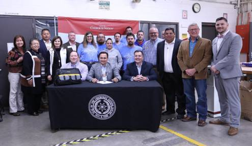CN Principal Chief Hoskin signs Cherokee Nation Career Readiness Act