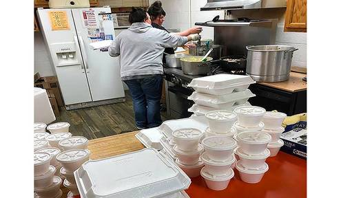 Communities work with tribe to feed elderly, families